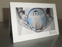 Geboortekaartje bellypaint