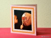 Geboortekaartje buikschildering